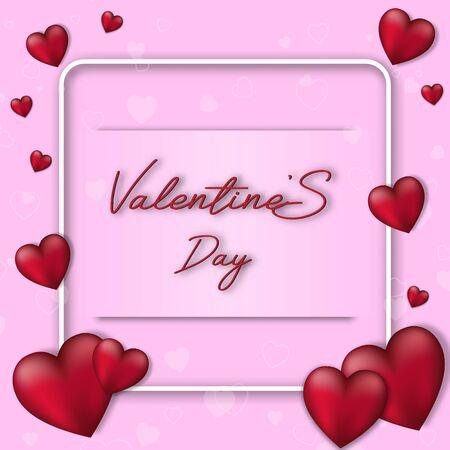 Valentine's day festival, love background and sweet hearts glittering, vector design Reklamní fotografie - 135595017