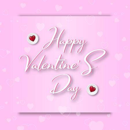 Valentine's day festival, love background and sweet hearts glittering, vector design Reklamní fotografie - 135595018