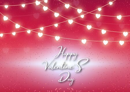 Valentine's day festival, love background and sweet hearts glittering, vector design Reklamní fotografie - 135595019