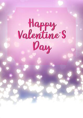 Valentine's day festival, love background and sweet hearts glittering, vector design Archivio Fotografico - 135597739
