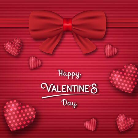 Valentine's day festival, love background and sweet hearts glittering, vector design Reklamní fotografie - 135597745