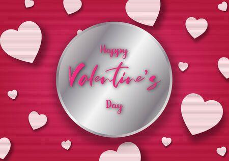 Valentine's day festival, love background and sweet hearts glittering, vector design Archivio Fotografico - 136151567