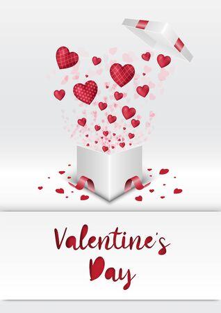 Valentine's day festival, love background and sweet hearts glittering, vector design Archivio Fotografico - 136151610