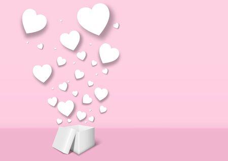 Valentine's day festival, love background and sweet hearts glittering, vector design Archivio Fotografico - 136151611