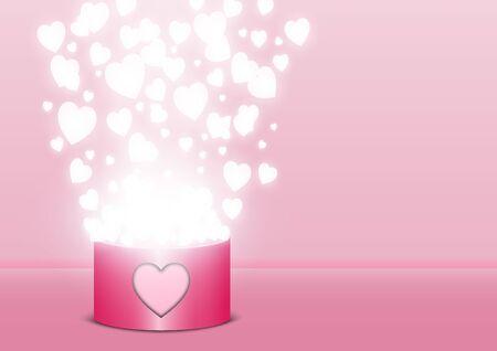 Valentine's day festival, love background and sweet hearts glittering, vector design Archivio Fotografico - 136151613