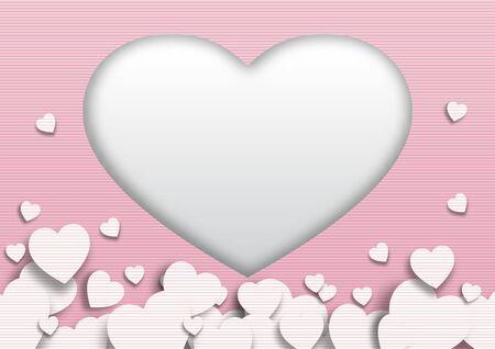 Valentine's day festival, love background and sweet hearts glittering, vector design Archivio Fotografico - 136151618