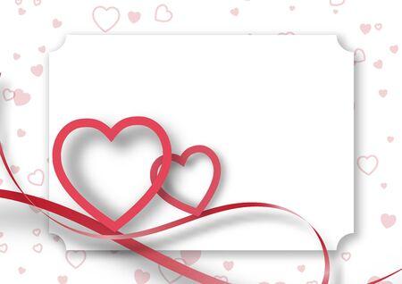 Paper valentine's day festival, love background and sweet hearts glittering, vector design Archivio Fotografico - 137042352