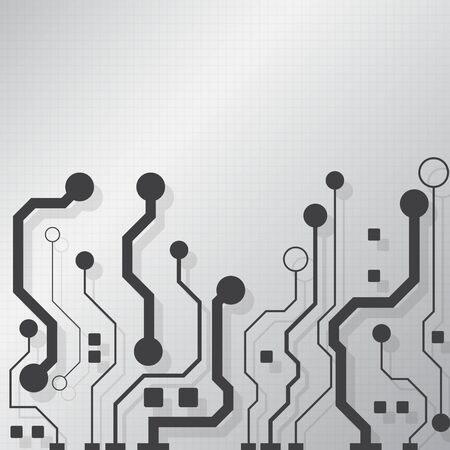 Circuit board technology background with hi-tech digital data connection system and computer electronic desing Archivio Fotografico - 138037789