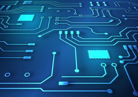 Circuit board technology background with hi-tech digital data connection system and computer electronic desing Archivio Fotografico - 138038246