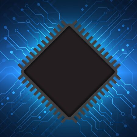 Circuit board technology background with hi-tech digital data connection system and computer electronic design