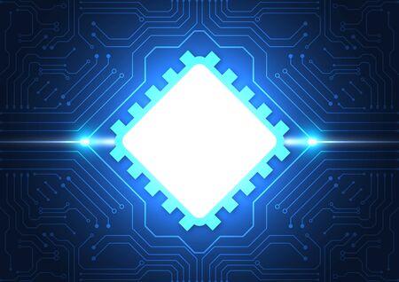 Hintergrund der Leiterplattentechnologie mit High-Tech-Digitaldatenverbindungssystem und elektronischem Computerdesign Vektorgrafik