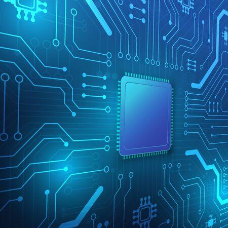 Hintergrund der Leiterplattentechnologie mit High-Tech-Digitaldatenverbindungssystem und elektronischem Computerdesign
