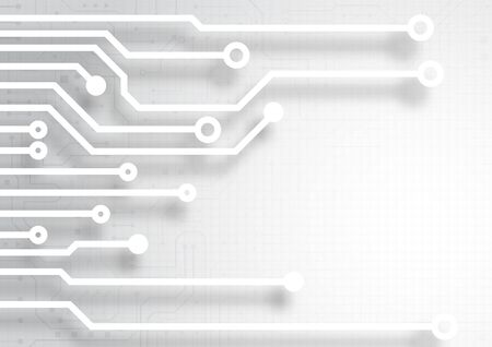 Circuit board technology background with hi-tech digital data connection system and computer electronic desing Illustration