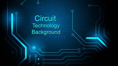 Circuit technology background with hi-tech digital data connection system and computer electronic Ilustrace