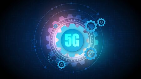 5G speed circuit technology background with hi-tech digital data connection system and computer electronic 版權商用圖片 - 149743011