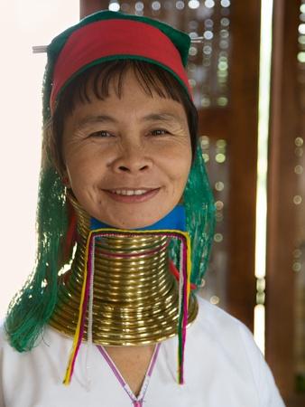 inle: INLE LAKE, Myanmar- FEB 23, 2011:Ethnic minority women in Myanmar.  Originally located in the Kayah State. But this family lives near Inle Lake.