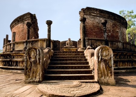 ancient Polonnaruwa temple - medieval capital of Ceylon,UNESCO World Heritage Site, Sri lanka photo