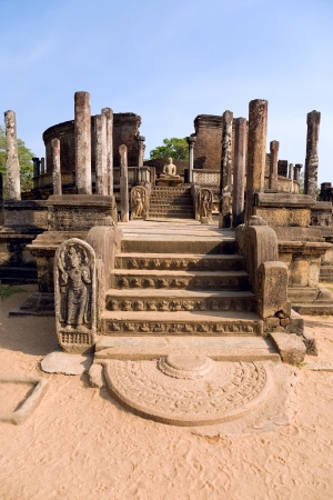 ancient Polonnaruwa temple - medieval capital of Ceylon,UNESCO World Heritage Site  photo