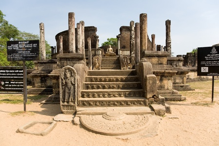 Ancient Vatadage (Buddhist stupa) temple in Pollonnaruwa, Sri Lanka photo