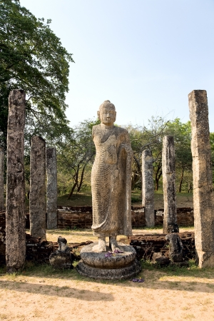 Buddha statue  in Polonnaruwa - vatadage temple, UNESCO World Heritage Site in Sri Lanka  photo