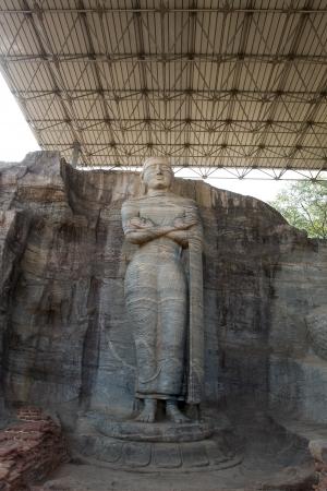vihara: Ancient standing Buddha image, Gal Vihara, Polonnaruwa, Sri Lanka