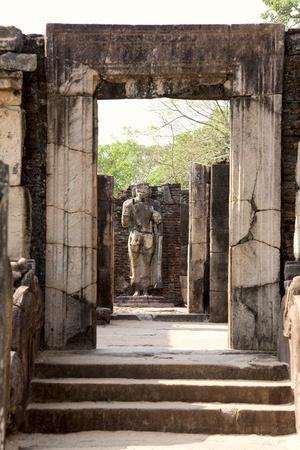 Ancient Buddha statue  in Polonnaruwa - vatadage temple, UNESCO World Heritage Site in Sri Lanka  photo