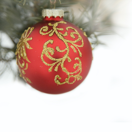 Christmas Decoration. Holiday Decorations Isolated on White Background  photo