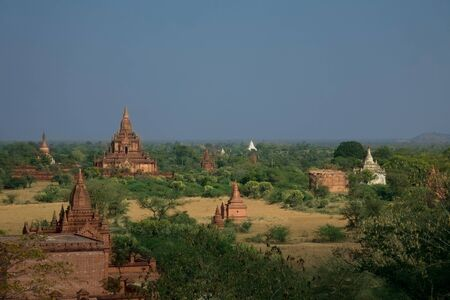 12th century: Famous Temples of Baganat day light, Myanmar (Birma),  12th Century