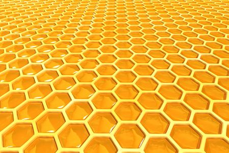 comb: honey cells texture