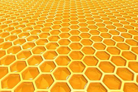 kam: honing cellen textuur Stockfoto