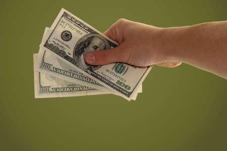 hand holding money Stock Photo - 2428572