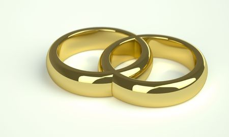 two golden wedding rings photo