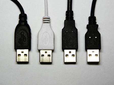 connectors: 4 USB connectors: 3 black and 1 white