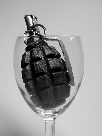 f1: cocktail of fragmentation hand grenade F-1 Stock Photo