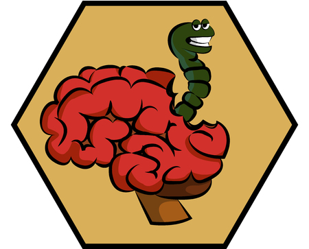 brain damage: The worm affects the brain