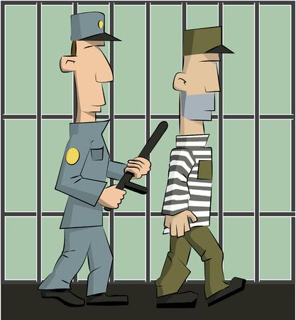delito: guardia est� encarcelado Vectores