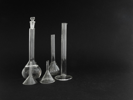 volumetric flask: glassware for the analysis and sample preparation in the laboratory