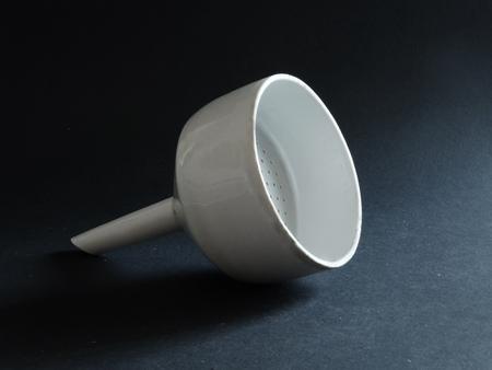 laboratory labware: Ceramic laboratory ware covered with white glaze