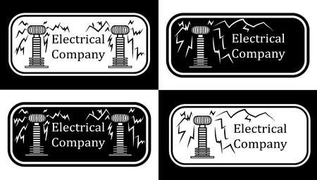 coil: Set of four for the electrical company in the form of a Tesla Coil