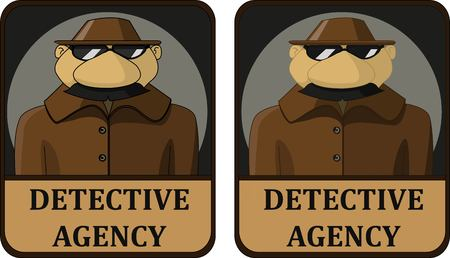 a detective agency to spy mustached hat