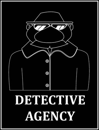detective agency: a detective agency to spy mustached hat