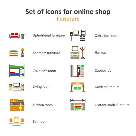 partitions: a set of pictures of different furniture partitions online store.