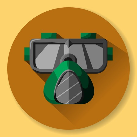 brazing: mask and respirator - protective equipment for work at the factory.
