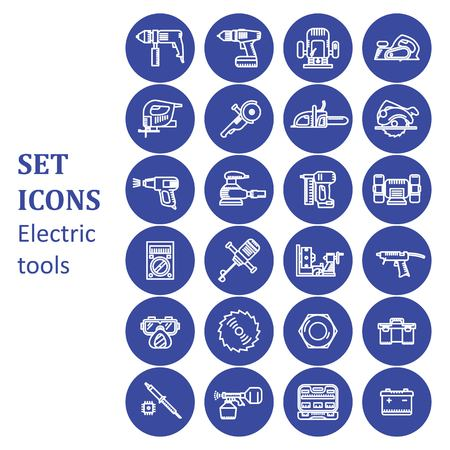 brazing: Icons of various electric tools.