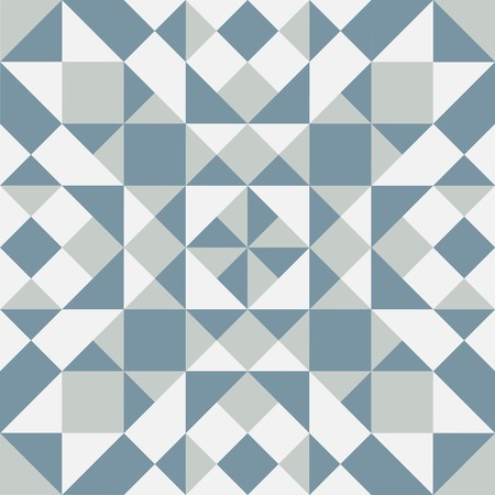 Colorful geometric pattern. Background with blue, gray and white elements. Vector Illustration