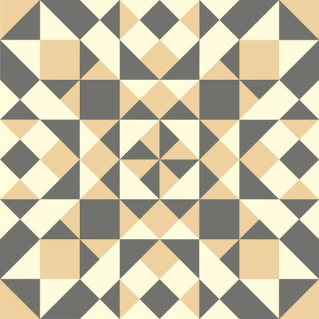 Colorful geometric pattern. Background with beige, gray and white elements. Vector Illustration Çizim