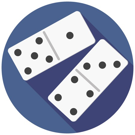 domino: illustration of dice domino Illustration