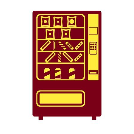espresso machine: Vending machine icon.  Illustration