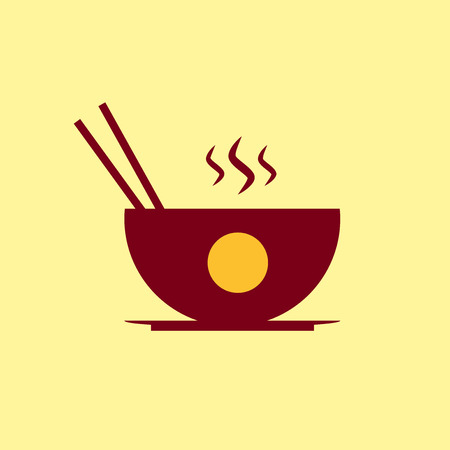 bowls: Fast food icon. Chinese food pictogram.