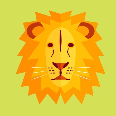 lijntekening: Leeuwenkop. Stock Illustratie
